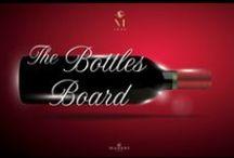 The Bottles Board / A collection of all Mazzei's wine bottles. @Marchesi Mazzei #winegallery #marchesimazzei #fonterutoli #zisola #belguardo #wine #tuscany #winelovers