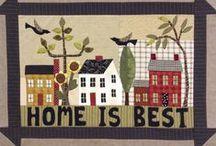 It Takes a Village / Quilt block patterns and ideas that feature buildings: Homes, Schoolhouses, Churches, Barns, etc.