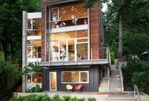 Cottage- Lake House /  The Cottage - post & beam! Open concept - large windows, open veranda, glass railings!