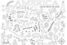 Stitch the USA / Embroidery and quilt blocks for the United States - all 50 states