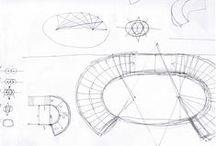 scala ellisse / la realizzazione di una scala ad ellisse in arenaria, dal calcolo dei fuochi alla dima gradino per gradino, dalle lavorazione agli imballi...