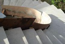 montaggio scala ellisse / fasi di montaggio di una scalla ad ellisse in arenaria