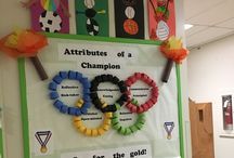 P.E Bulletin Boards / Boards made to promote Physical activity