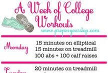 college fit / health fitness beautiful sexy toned strong run workout inspiration gym life