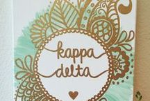 sorority / diy craft sorority kd kappa delta inspiration college srat canvas painting