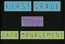 First Grade - Math - Data Management / featuring: pins related to data management and probability for grade one