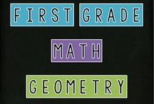First Grade - Math - Geometry / featuring: pins related to geometry and spatial sense for grade one