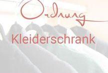 Ordnung Kleiderschrank / Ideen für mehr Ordnung im Kleiderschrank
