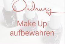 Ordnung - Make Up aufbewahren / Ideen & Inspirationen für die Aufbewahrung von Make Up