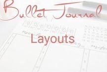 Bullet Journal Layouts / Monatslayouts, Wochenlayouts, Tageslayouts, Tracking
