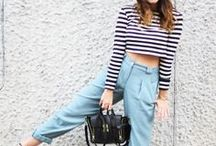 Crop It / Styling inspiration for cropped tops, summer midriffs and working high waisted skirts
