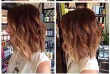 > HAIR  < / Colour and cut
