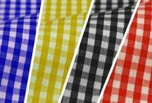 Vichy / Teles de 80 cm o 160 cm apropiades per confeccionar bates, cortines, robes infantils, manualitats... // Telas de 80 y 160 cm apropiadas para confeccionar batas, cortinas, ropas infantiles, manualidades, etc. // Vichy Fabric width 80cm or 160cm suitable for making gowns, curtains, children's clothes, crafts...