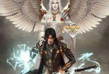 warrior angel and demon