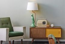 Interiors Styling - Inspiration / Inspiring interiors from around the world - mostly midcentury styled