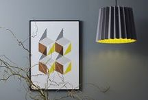COLOUR WAYS - Grey & Yellow / Images themed around one of our most popular shades of lampshade, the previous smoke grey and factory yellow (available from www.lanebypost.com for £65) and now French Grey & Mr David. Now introducing the Beam table lamp in the same colours.