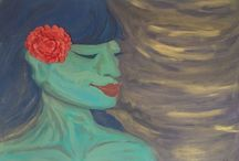 StudioJaz Gallery / Painting is one medium I I like to use in solidifying my ideas and concepts during my storyboarding, storytelling and choreographic working process. It is also a way I interact with my surrounding environment.  Most of my work is inspired by the everyday moments, my surrounding natural environment, and Nā Wāhine-- women figures inspired by and embodying the essence of Hawaiian goddesses that are tied to the nature of the islands.