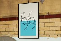 Lane Prints: Swimming Blue - Vintage Swimming / Inspired by our geometric screen print series 'Swimming Blue' and 'Swimming Yellow'  http://www.lanebypost.com/shop/swimming-yellow-print