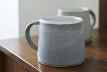 Lane & Parkwood Pottery Ceramics / A stoneware mug that has been hand thrown on a potter's wheel by Parkwood Pottery in Derbyshire, UK.  Each mug is hand glazed causing natural variation in colour and shape and has a handmade matte finish.   The mugs are dishwasher and microwave safe.  Parkwood Pottery is a self-funded project established in 2007 in Alfreton in Derbyshire, ran by Graeme McKenna and Inga Heppleston.  Currently available in two beautiful colours from Lane.