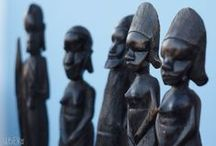 African Art / Unique African Art pieces: oil paintings, sculptures, masks, figures, hair combs, etc.