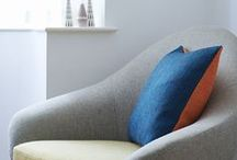 COLOURWAYS - Seville Orange and Mallard Blue / How to use orange and blue in your home, as inspired by the latest colourway inspiration in our Seville Orange & Mallard Blue Twin Tone Tweed Cushion.  http://www.lanebypost.com/shop/cushion-orange-blue