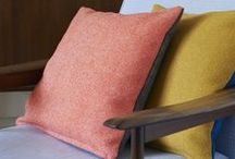 COLOURWAYS - Charcoal Grey & Rosie Pink / Grey and pink used as finishing touches in the most styling of homes.  Inspired by the Charcoal & Rosie Pink Tweed Twin Tone Cushion from Lane.  http://www.lanebypost.com/shop/cushion-charcoal-pink