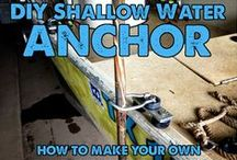 """DIY Shallow Water Anchors / The answer to: """"What shallow water boat anchor should I use?"""", """"What is the best shallow water anchoring system?"""", and """"How do I anchor my boat in shallow water?""""  There are a great many commercially-made shallow water boat anchors out there, but as you know, they tend to be pretty pricey. Why not make your own with Max-Gain Systems fiberglass and save a ton of money?"""