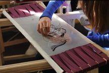 Atelier broderie Design de Mode / Workshop broderie de haute couture des BTS Design de Mode 2 du 3 au 7 novembre 2014 à l'ESDAC