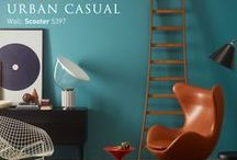 Urban Casual / With the strength and depth of colour blending seamlessly with rough and masculine elements, bring home the sense of a new industrial era with our Urban Casual collection from Colour Trends 2014.