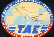 TAE Greek National Airlines / ΤΑΕ (Εθνικαί Αεροπορικαί Γραμμαί) [1951-1957],  Hellenic Airlines ΕΛΛ.Α.Σ (Ελληνικαί Αεροπορικαί Συγκοινωνίαι) [1947-1951], ΑΜΕ - Αεροπορικαί μεταφοραί Ελλάδος [1947-1951]