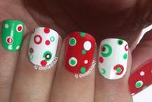 Christmas / Holiday Nails / Nails I have made for the holidays   Uñas mías hechas para la Navidad