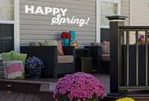Spring Cleaning / It's Spring! Time to freshen up your deck with new plants, clean your backyard, and redecorate after winter.