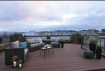 San Francisco Rooftop Deck: Before & After / #AZEKDecking was the perfect choice for this San Francisco Rooftop Deck. Our Vintage Collection has earned a Class A Flame Spread rating, great for dry and hot climates. #AZEKDecking is lightweight and easy to install for contractors and also low-miantenance for homeowners. #AZEKDeck #RooftopDeck