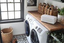 Laundry Room / Laundry room, tiled flooring, small spaces, organization, laundry room inspiration, & Cleaning tips