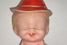 Vintage Rubber Squeak Toys / vintage toys