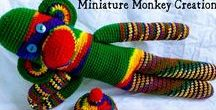 Critters & Dolls from Miniature Monkey Creations / Stuffed animals and dolls that I sell in my shop at https://miniaturemonkeycreations.zibbet.com/ You might guess that I love monkeys the best, and you'd be right!
