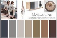 Masculine Design / Interior- design- fashion and colors
