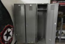 Reclaimed Military Lockers / Old military lockers for loft closets, gun safe, entry way storage, garage decor, etc.