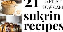 SUKRIN RECIPES - LOW CARB - KETO - LCHF - SF / Sugar free recipes using the Sukrin line of low carb sweeteners and sugar alternatives for diabetes, low carb diets and keto diets. Sukrin Gold, Sukrin Melis, Sukrin 1:1, Sukrin Fiber Syrup, Sukrin Bread Mix