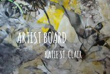 Katie St. Clair / Katie St. Clair's dramatic, large-scale paintings bring the beauty of the natural world indoors.