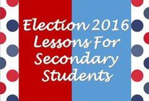 Election Lessons for Secondary Students / This board is dedicated to lessons regarding Presidential and Congressional Elections and finding ways to teach about them in the secondary classroom. These may include videos, projects, lessons, etc. Mainly these will be secondary social studies lessons but if you have any other content area lessons that deal with elections, feel free to include those as well.