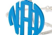 Monogram Necklace / Personalized Monogram Necklaces
