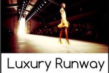 Luxury Runway Style / Shopping Week of 9/13:  We love Fashion Week!  We'll be pinning our favorite luxury runway looks here.  This week's Fashion Roster is LUXURY RUNWAY and you have a $30,000 virtual budget to fantasy shop with.  Head to www.battleshop.co to get in the game!