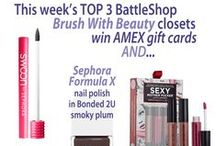 Brush with Beauty! / This week (10/25 - 10/31), you'll be #fantasyshopping for a Closet that includes some clothing and accessories, PLUS a nail polish, an eyeshadow palette, and a lip gloss!
