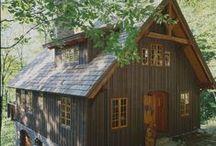 Homes and cabins / Bouwsels en sferen om te wonen / by Rosie @Home