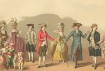"""18th Century Fashion / Fashion in the 18th century begins to represent an expression of individuality.  It is also at this time when the concept of fashion, as it is known today, begins.  Footwear and accessories AND hairstyles and headgear complete the """"well healed"""" society."""