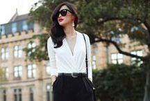 style / minimalist classic, black and white, korean fashion, chic