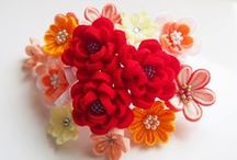 канзаши и цветы из лент
