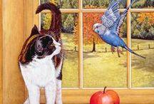 Cats & Birds 1 / ART