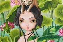 Girls & Cats 1 / ART